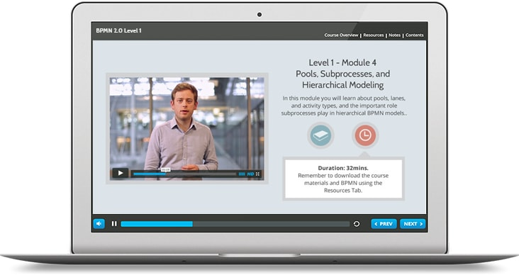 BPMN 2.0 (level 1 & 2) e-Learning